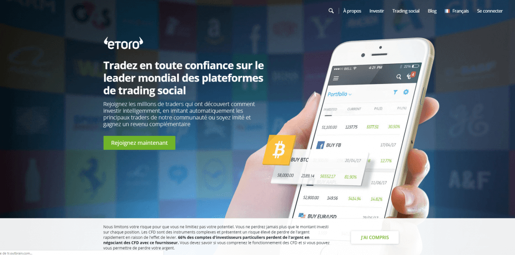 Etoro Screen